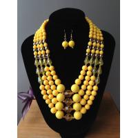 Buy cheap Fashion Exporting designs fashionable four  layers acrylic/resin beads handmade jewelry set from wholesalers