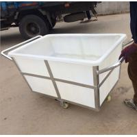 Buy cheap K500liter Rotomolding Large square Plastic storage laundry carts and trolley with wheels from wholesalers