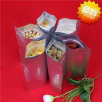 Buy cheap customized printed aluminum foil packaging bags with ziplock and clear window from wholesalers