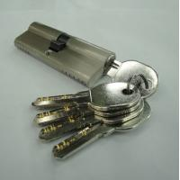 Wholesale 80mm(40*40) Euro Profile Double Brass Cylinder with 5 brass computer keys SN color from china suppliers