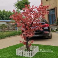 Quality Fire Proof Artificial Maple Tree For Outdoor Yard Decoration No Termite for sale