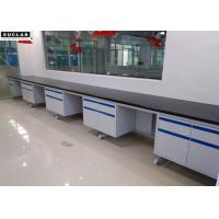 Buy cheap Customized Color Steel Lab Furniture , Epoxy Resin Tops Lab Tables Work Benches from wholesalers