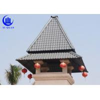 Wholesale Prefabricated Houses Roof Building Material Plastic Roof Cover Synthetic Resin Roof tile from china suppliers