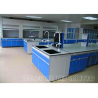 China All Steel Structure Laboratory Work Benches With High Grade PP Sink ISO9001 on sale