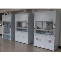 Buy cheap 16W*2 LED Lamp Face Velocity Fume Hood , Alkali Resistance Ducted Fume Hood from wholesalers