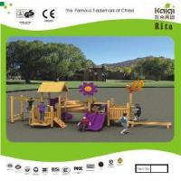 Buy cheap Outdoor Wooden Playground (KQ10153A) product
