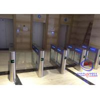 Buy cheap High Class Swing Barrier Gate Two Way Lanes Automatic Card Swipe For Amusement Park from wholesalers