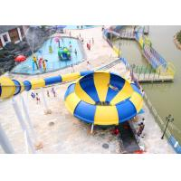 Buy cheap Fiberglass Space Bowl Water Slide Outdoor Water Park Equipment from wholesalers