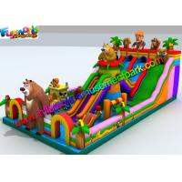 Wholesale Giant Inflatable Theme Park , Amusement PVC Inflatable Fun Park from china suppliers