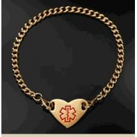 Buy cheap Stainless Steel Round Medical ID Alert Charm Brecelet from wholesalers