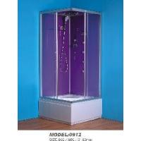 Buy cheap Modern Shower Cubicle with Purple Back and Glass Top (0912) from wholesalers