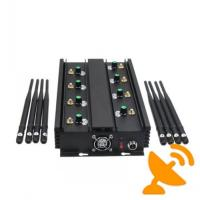 Wholesale Adjustable 8 Band UHF VHF Jammer Device To Block Mobile Phone Signal 16W from china suppliers