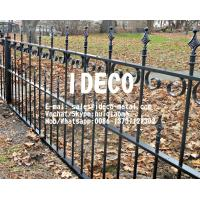 Buy cheap Ornamental Metal Fences, Decorative Balcony Railings, Rooftop Guard Rails, Sidewalk Green Belt Fencing from wholesalers