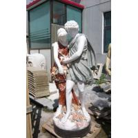 China Two person marble sculptures in Natural stone on sale