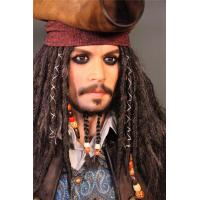 China Hollywood Silicone Celebrity Wax Figures Life Size Jack Sparrow Statue Wax Figures on sale