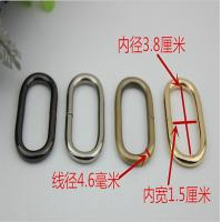 China Durable high quality handbag metal 38 mm iron wire oval ring for webbing on sale