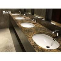 Wholesale Durable Marble Bathroom Sink Tops , Marble Vanity Tops With Sink Heat Resistance from china suppliers