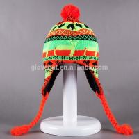 Buy cheap 2017 New Crochet Lovely Deer Jacquard Style 20*30cm107g 100%Polyester Winter Knitting Woman Earflap Hats 100%polyester from wholesalers