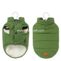Wholesale Warm pet coat green dog vest from China pet supplier from china suppliers