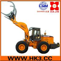 Buy cheap Wheel-Loader Forklift:6-ton lifting capacity, fitted with hydraulic quick-coupling, bucket, pallet forks (2m long), pipe from wholesalers