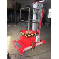 Buy cheap Portable Mobile Elevated Platform Dc Battery Single Mast Aerial Platform Lift from wholesalers