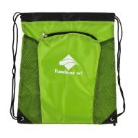 Buy cheap Childrens Green Polyester Drawstring Bag Backpack Custom Pull String Bags from wholesalers