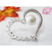 Buy cheap Heart shape with pearl shoe buckle Zircon shoes flower shoe buckle shoes accessories from wholesalers
