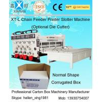 Buy cheap Chrome Surface Grinding Chain Feeding Four-color Flexo Printing Carton Slotting Machine from wholesalers