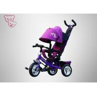 Buy cheap Push / Ride On  Baby Tricycle Bike Big Wheels Purple 4 In 1 Safety Belt from wholesalers