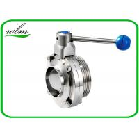 4 Gear Pull Handle Sanitary Butterfly Valve With Thread And Weld Connection