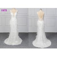Buy cheap Strapless Luxury A Line Ball Gown Wedding Dress , White Ball Gown Dress from wholesalers