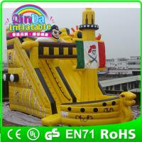 Buy cheap Commercial inflatable water slide slip n slide,giant inflat slide for kids and adult from wholesalers