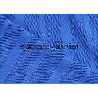 Buy cheap Navy Blue Nylon Spandex Stripe Power Mesh Fabric Four Way Stretch with High Strength from wholesalers
