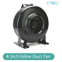 Buy cheap 6 Inch Ducted Fan Motor / Small Automatic Greenhouse Extractor Oscillating Circulation Inline Fan For Grow Tent from wholesalers