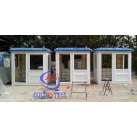 Fiberglass white blue color parking booth portable security booth for highway Manufactures