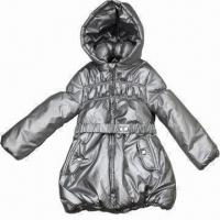 Buy cheap Girl's Winter Jacket with Silver-coated Padding and Elastic Design from wholesalers