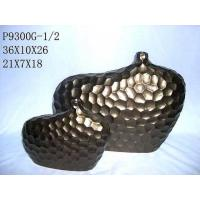 Buy cheap Ceramic Stoneware Vase Stone Feeling with Brown / Home Decoration Vase/ Fondue Set from wholesalers