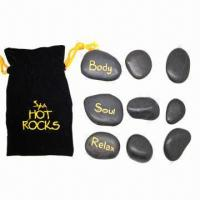 Buy cheap Hot spa rocks/massage stone set, promotes deep muscle from wholesalers