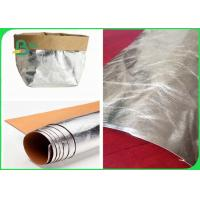 Buy cheap Silver Kraft Paper Washable , Natural Fiber Pulp Brown Kraft Paper Eco Friendly from wholesalers