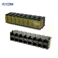 Buy cheap PCB 2x8 Ports 16*10P 160 Pin RJ45 Connector With Right Angle Terminal from wholesalers