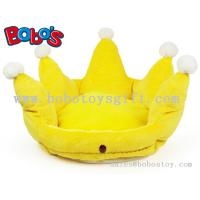 Buy cheap Yellow Color Plush King Crown Style Pet Bed Puppy Dog Sofa from wholesalers