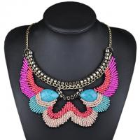 Buy cheap Fashion Hand Made Beaded Jewelry Resin Beads Acrylic Inlay Collar Exaggeration Necklace from wholesalers