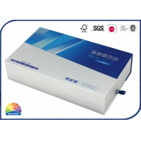 Buy cheap Reverse Uv Coating Rigid Drawer Paper Box With Paper Divider from wholesalers