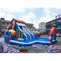 Buy cheap House Shaped Slide Portable Inflatable Water Park Aquapark For Outdoor Ground from wholesalers