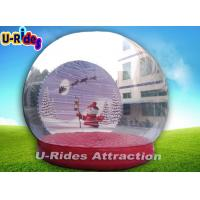 Buy cheap 4M Diameter Giant Inflatable Bubble Tent , Inflatable Snow Globe Christmas from wholesalers