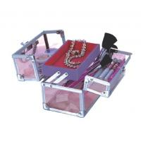 Wholesale OEM Acrylic Cosmetic Organizer Pink Makeup Train Case Pretty Storage Boxes from china suppliers