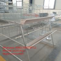 Buy cheap Hot Dip A Frame Galvanized Wire Mesh Automatic Battery Broiler Cage System Chicken Coops Equipment from wholesalers