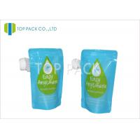 Buy cheap Blue Stand Up Pouch With Spout / Double Zipper liquid pouch packaging in Juice Packing from wholesalers