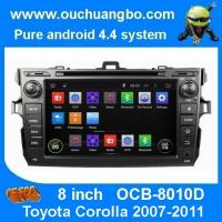 Buy cheap Ouchuangbo autoradio DVD stereo navi Toyota Corolla 2007-2011 3G wifi bt MP3 android 4.4 from wholesalers