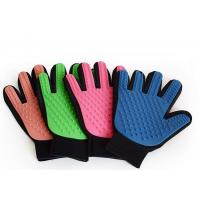 Buy cheap Four Color TPR 24cm Dog Brush Glove , OEM ODM Cloth Rubber Pet Brush Glove from wholesalers